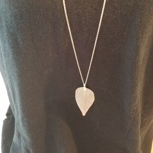 Fall Foliage - Silver Necklace